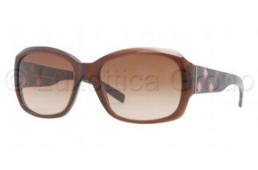 Burberry BE4129 Single Vision Prescription Sunglasses BE4129-301113-5617 - Frame Color Brown, Lens Diameter 56 mm
