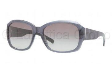 Burberry BE4129 Single Vision Prescription Sunglasses BE4129-301311-5617 - Lens Diameter 56 mm, Frame Color Transparent Blue