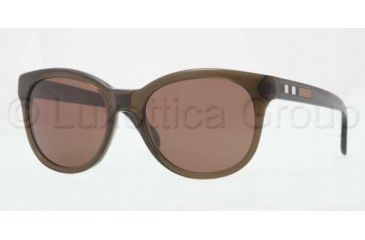 Burberry BE4132 Progressive Prescription Sunglasses BE4132-301073-5318 - Lens Diameter 53 mm, Frame Color Olive Green