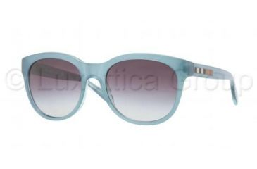Burberry BE4132 Progressive Prescription Sunglasses BE4132-33658G-5318 - Lens Diameter 53 mm, Frame Color Turquoise