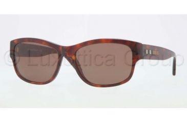 Burberry BE4134 Sunglasses 334973-5617 - Havana Frame, Brown Lenses