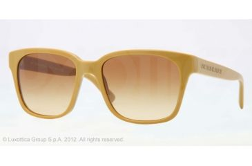 Burberry BE4140 Single Vision Prescription Sunglasses BE4140-33722L-55 - Lens Diameter 55 mm, Lens Diameter 55 mm, Frame Color Mustard
