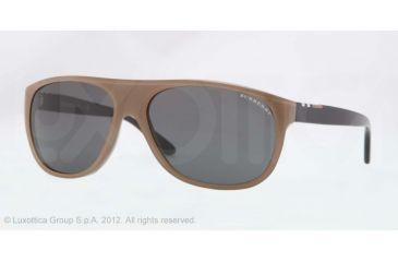 Burberry BE4143 Single Vision Prescription Sunglasses BE4143-339587-58 - Lens Diameter 58 mm, Lens Diameter 58 mm, Frame Color Top Transp/brown