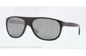 Burberry BE4143 Single Vision Prescription Sunglasses BE4143-33966G-58 - Lens Diameter 58 mm, Lens Diameter 58 mm, Frame Color Top Transp/black