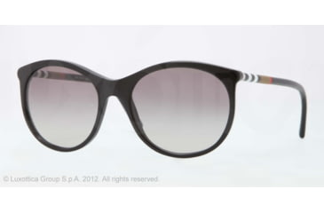 Burberry BE4145 Progressive Prescription Sunglasses BE4145-300111-55 - Lens Diameter 55 mm, Lens Diameter 55 mm, Frame Color Black