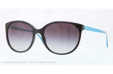 Burberry BE4146 Single Vision Prescription Sunglasses BE4146-30018G-55 - Lens Diameter 55 mm, Lens Diameter 55 mm, Frame Color Black