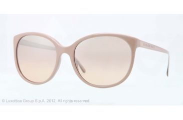 Burberry BE4146 Single Vision Prescription Sunglasses BE4146-32813D-55 - Lens Diameter 55 mm, Lens Diameter 55 mm, Frame Color Nude