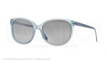 Burberry BE4146 Single Vision Prescription Sunglasses BE4146-34826V-55 - Lens Diameter 55 mm, Frame Color Azure