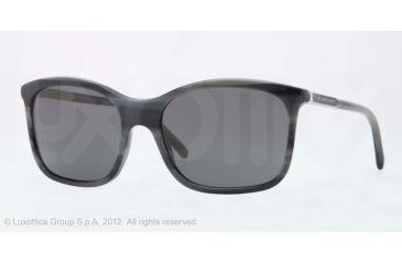 Burberry BE4147 Single Vision Prescription Sunglasses BE4147-340187-57 - Lens Diameter 57 mm, Lens Diameter 57 mm, Frame Color Grey Horn