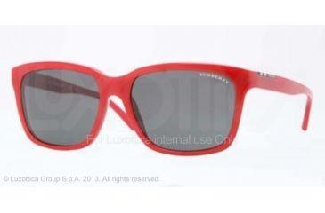 Burberry BE4150 Progressive Prescription Sunglasses BE4150-342187-58 - Lens Diameter 58 mm, Frame Color Top Transparent/red