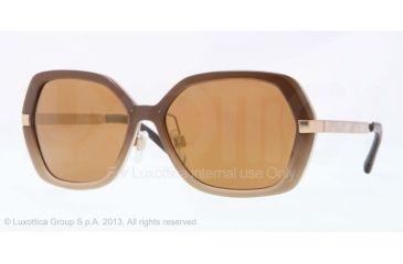 Burberry BE4153Q Progressive Prescription Sunglasses BE4153Q-34266H-58 - Lens Diameter 58 mm, Frame Color Brown Gradient Beige