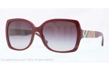 Burberry BE4160 Sunglasses 34038G-58 - Bordeaux Frame, Gray Gradient Lenses