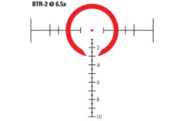 Bushnell Elite 1-6.5x24mm Tactical Rifle Scope, Matte Black, Illuminated BTR-2 SFP Reticle ET1624SJ