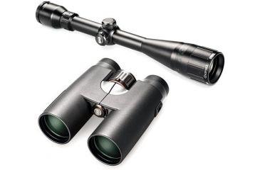 Bushnell Legend 5-15x40 Matte Riflescope and Bushnell 628042 Elite E2 8x42 Binocular Kit
