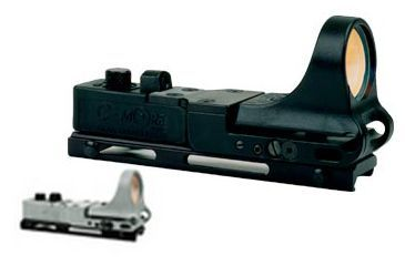 C-MORE Railway Red Dot Sight w/Click Switch, Gray, 6 MOA CRWG-6