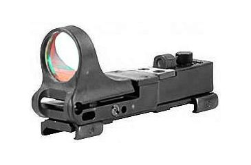 C-More Railway 8MOA Waterproof Weaver/Picatinny Red Dot Sight, Black CMCRWB-8