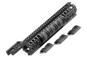 CAA AR15/M16 Aluminum 6 Rail System-M4 Carbine, Black X6