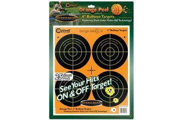 Caldwell Orange Peel 4-in Bulls Eye Targets