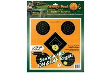 Caldwell Orange Peel Sight-In Paper Targets, 8 inch 5 sheets