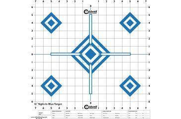 Caldwell Sight In Target 16in, Hi Contrast Blue, 10pk 198604