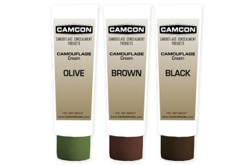 Camcon Camouflage Cream Squeeze Tube Make-Up Kit, Black/Brown/Olive CC61320