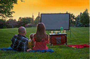 Camp Chef Outdoor Entertainment Gear Backyard Big Movie Screen,  Lightweight, Gray/Black OS120L
