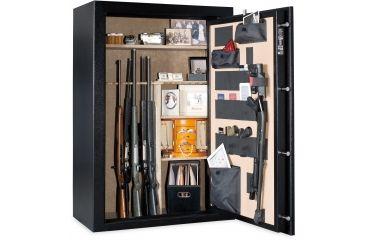 Cannon Safe Patriot P40 48 Gun Electronic Safe, 59x40x22in - Hammertone Black/Chrome P40HR-H1TEC-13