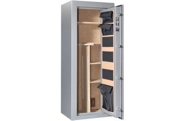 Cannon Safe Scout S14 24 Gun Electronic Safe, 59x24x18in - Hammertone Gray/Chrome S14-H2TEC-13