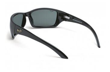 Maui Jim Canoes Sunglasses w/ Gloss Black Frame and Neutral Grey Lenses - 208-02, Back View