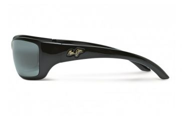 Maui Jim Canoes Sunglasses w/ Gloss Black Frame and Neutral Grey Lenses - 208-02, Side View