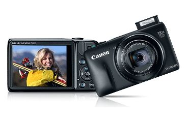Canon 16MP PowerShot SX600 HS Advanced Digital Camera, Black 9340B001