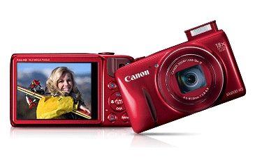 Canon 16MP PowerShot SX600 HS Advanced Digital Camera, Red 9342B001