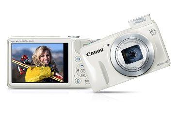 Canon 16MP PowerShot SX600 HS Advanced Digital Camera, White 9341B001