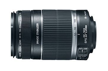 Canon Telephoto Zoom Lens - EF-S 55-250mm F/4-5.6 IS 2044B002