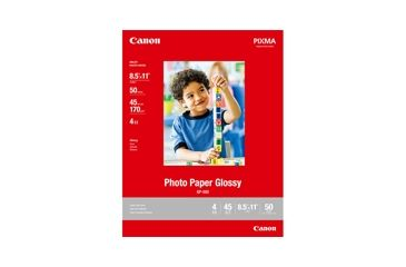 Canon Photo Paper Glossy 8.5 x 11, 50 Sheets 0775B023