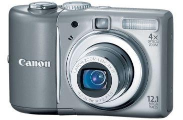 1-Canon PowerShot A1100 IS 12.1-megapixel Digital Camera Kit Gray 3444B001