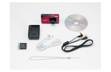 Canon PowerShot A2200 14.1 MP Digital Camera, Red Included Accessories