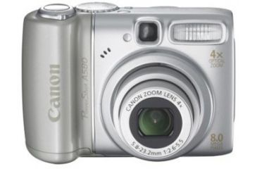 Canon Powershot A580 Digital Camera - 8MP, 4x Optical Zoom, Optical Image Stabilizer, Face Detection