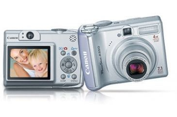 Canon PowerShot A550 7.1 MP 4x Optical Zoom Digital Camera Kit 1775B001