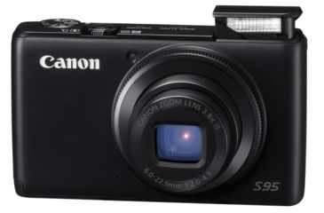 Canon PowerShot S95 Digital Camera - flash and lens extended