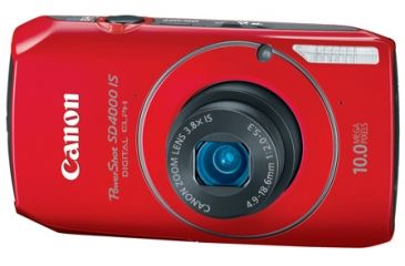 Canon Power Shot SD4000 IS Red Digital Camera Kit