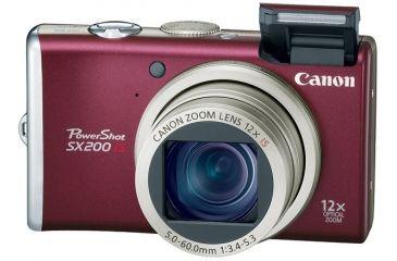 Canon PowerShot SX200 IS 12.1 Megapixel 12x optical zoom Digital Camera Kit Red 3511B001
