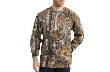 52fa9aa0cc573 Carhartt Camo Long Sleeve T-Shirt for Mens, Realtree Xtra, Small/Regular