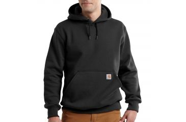 d3b002224c Carhartt Rain Defender Paxton Heavyweight Hooded Sweatshirt for Mens,  Black, Small/Regular 100615