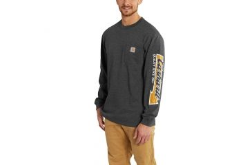 b927f81ed Carhartt Workwear Graphic Carhartt Way Long Sleeve T-Shirt for Mens, Carbon  Heather,