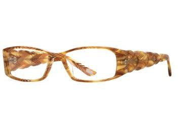 Carmen Marc Valvo CM Apolonia SECM APOL00 Progressive Prescription Eyeglasses - Spanish Amber SECM APOL005330 BN