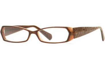Carmen Marc Valvo CM Grable SECM GRAB00 Eyeglass Frames - Cocoa Brulee SECM GRAB005440 BN