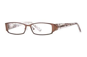Carmen Marc Valvo CM Jayda SECM JAYD00 Single Vision Prescription Eyewear - Brown SECM JAYD005030 BN