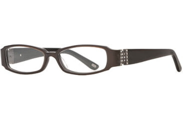 Carmen Marc Valvo CM Viviana SECM VIVI00 Progressive Prescripton Eyeglasses - Cafe SECM VIVI005032 BN