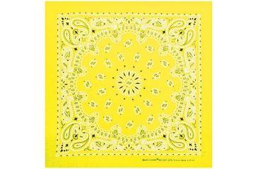 Carolina Manufacturing Neon Paisley Bandana Yellow B22NEO-100636